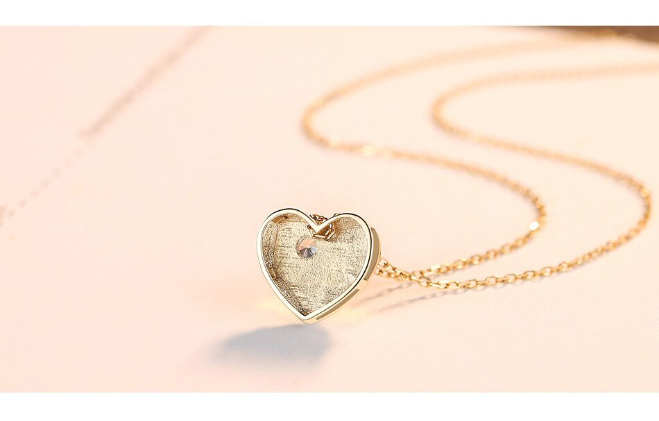 14k Gold Love You Heart Pendant Necklaces for Women